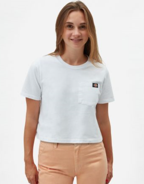 Dickies Ellenwood cropped T-shirt valkoinen ALE -30% (OVH 29€)