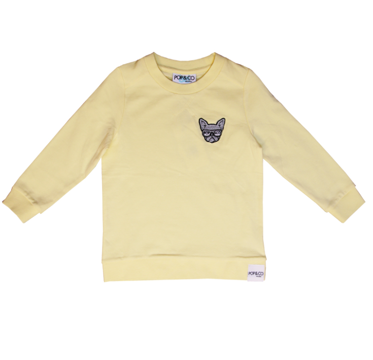 Pop & Co dog sweater yellow ALE -20% (OVH 34,90€)
