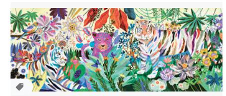 Djeco Rainbow Tigers 1000 palan palapeli