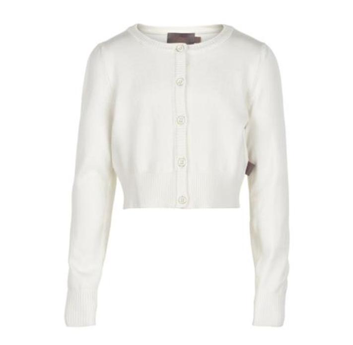 Creamie valkoinen neuletakki koko 140 cm ALE -50% (OVH 34,95€)