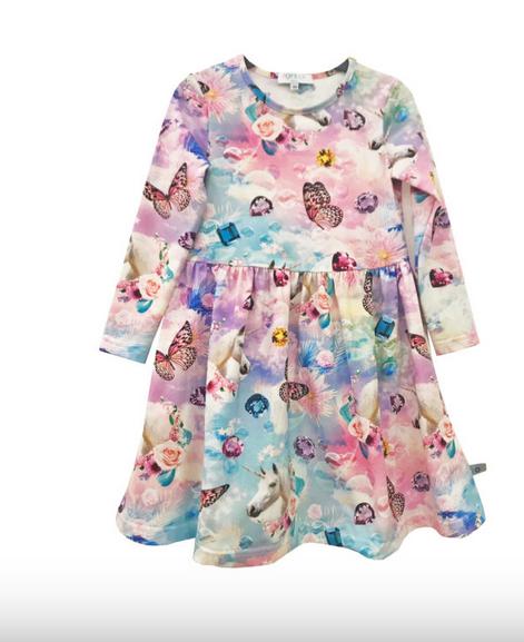 Pop & Co CILIA dress unicorn mekko koko 92cm ja 134 cm ALE -20% (OVH 39,90€)