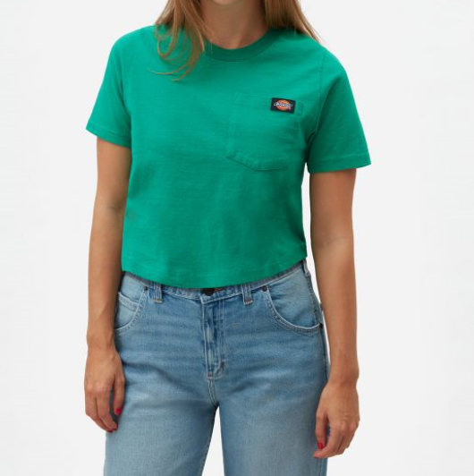Dickies Ellenwood cropped T-shirt vihreä