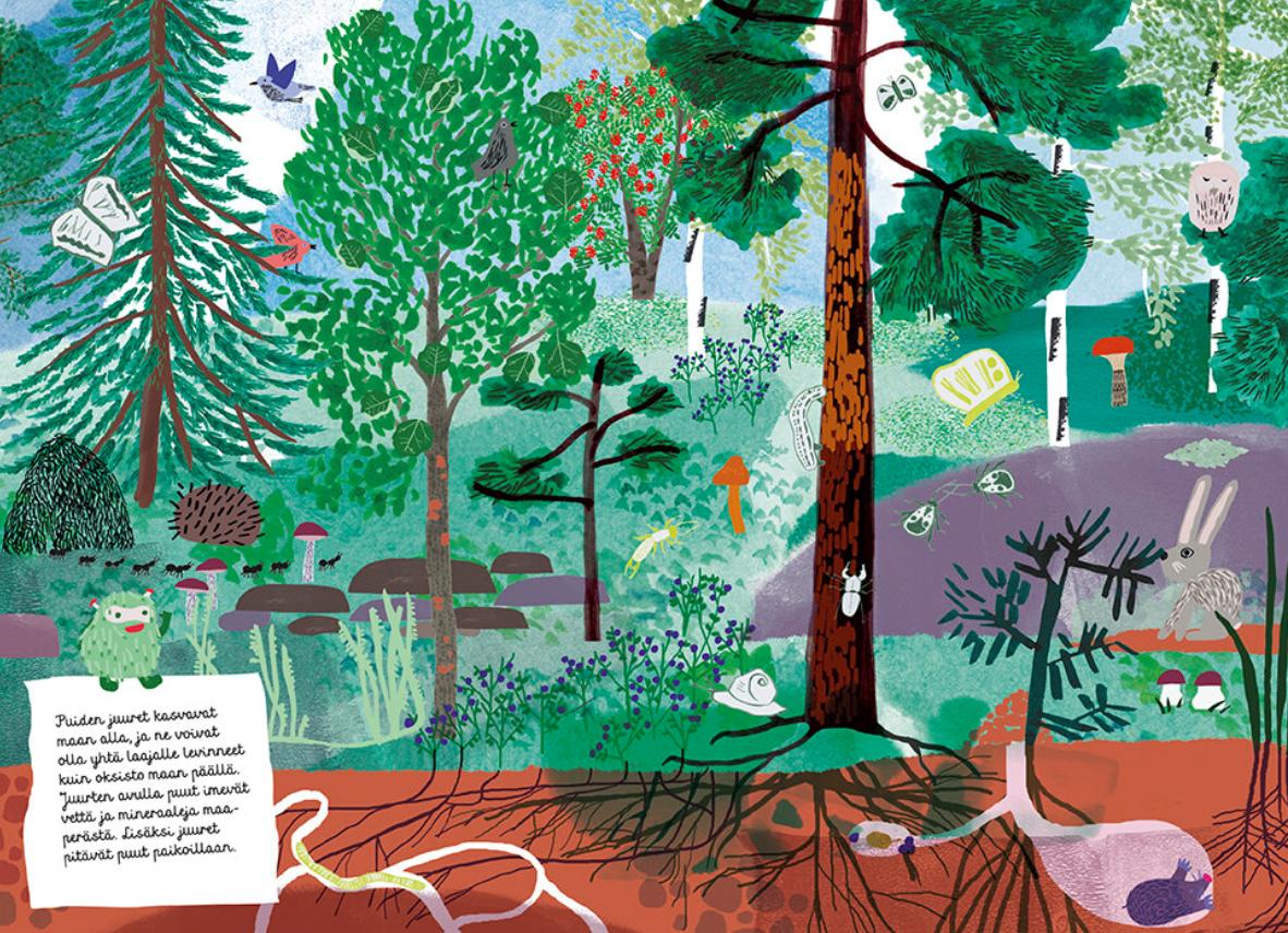 Ystäväni puu – Lasten oma tietokirja-Etana editions