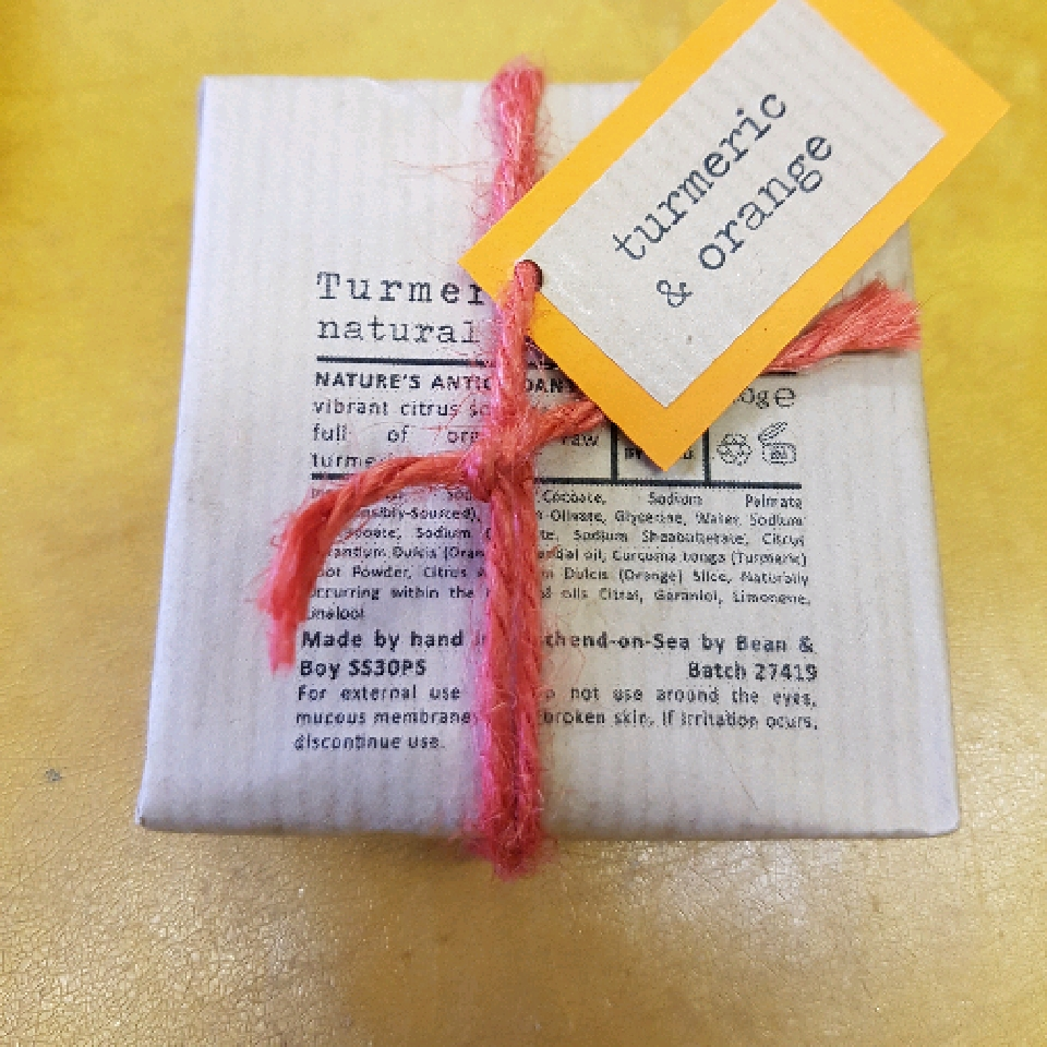 Turmeric and Orange - 110g soap