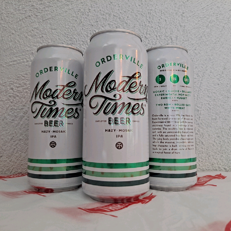 Modern Times | Orderville | Hazy IPA 7.2% 473ml