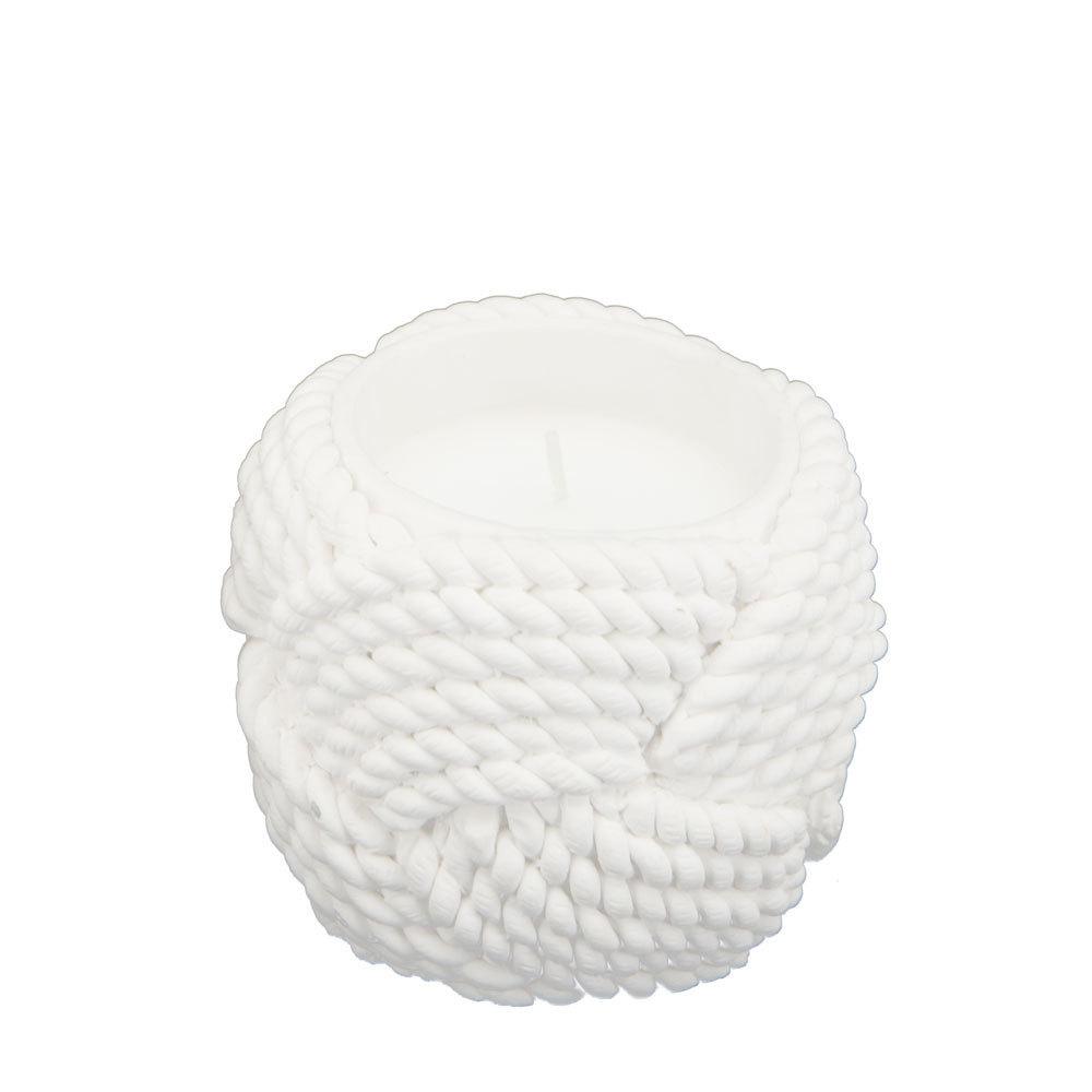 Kynttilä betoniköysi, valkoinen