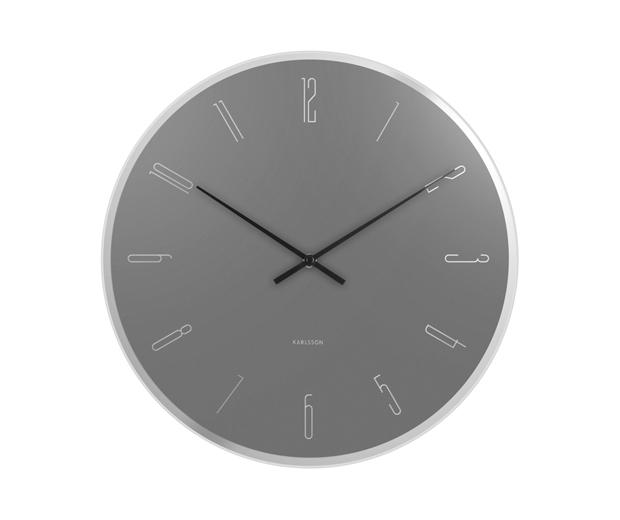 Seinäkello Mirror Numbers, Present Time