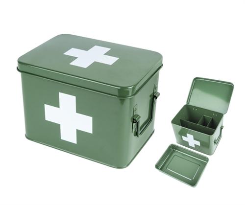 Lääkelaatikko vihreä, Present Time