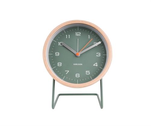 Herätyskello Innate, vihreä/puu, Present Time