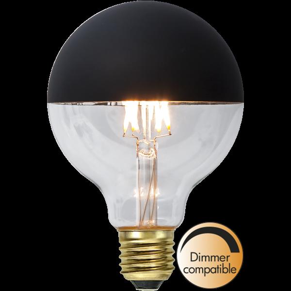 LED-lamppu Top Coated, musta