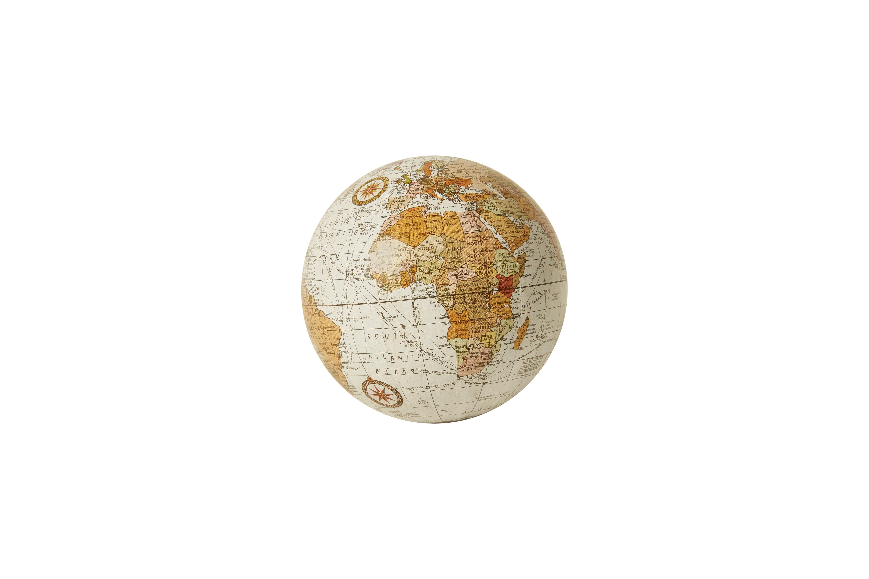 Karttapallo pöytäkoriste valkoinen, Speedtsberg