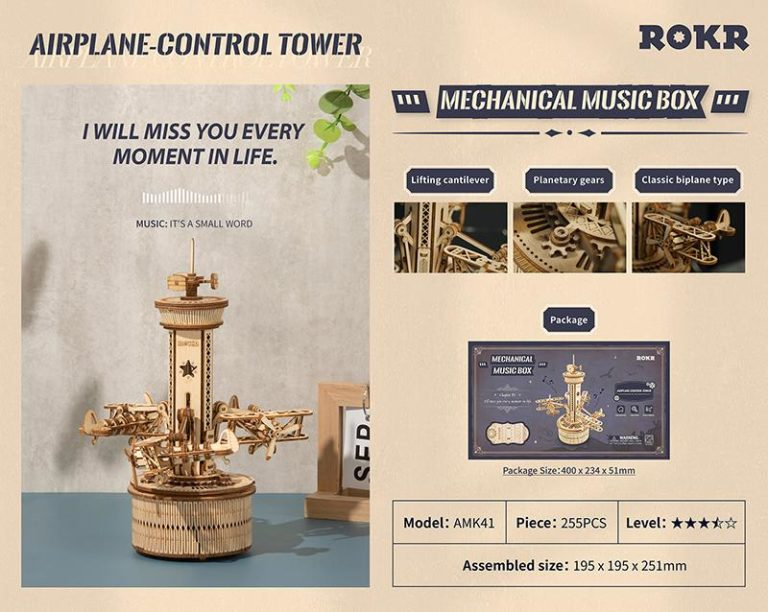 Tee se itse soittorasia Air-control Tower, Robotime