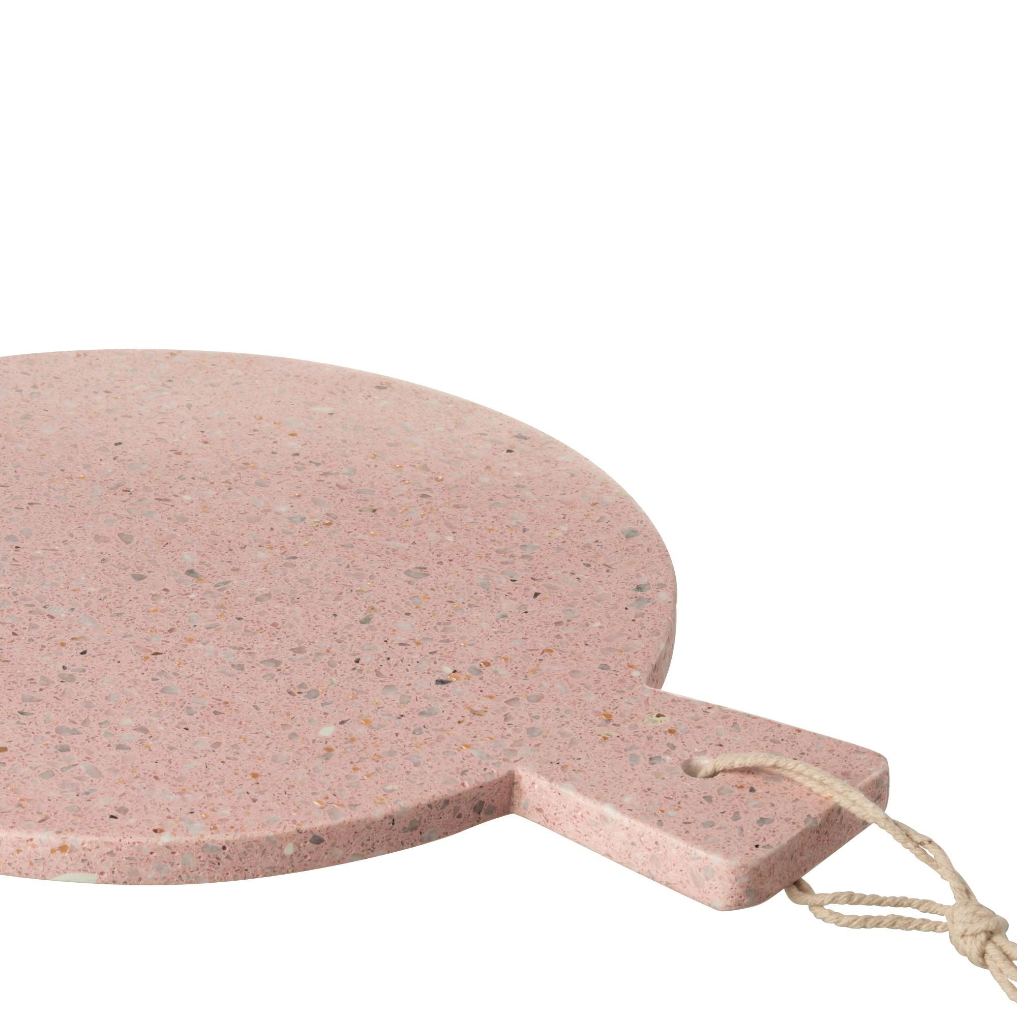 Tarjotin Terrazzo Pink, pyöreä, Jolipa