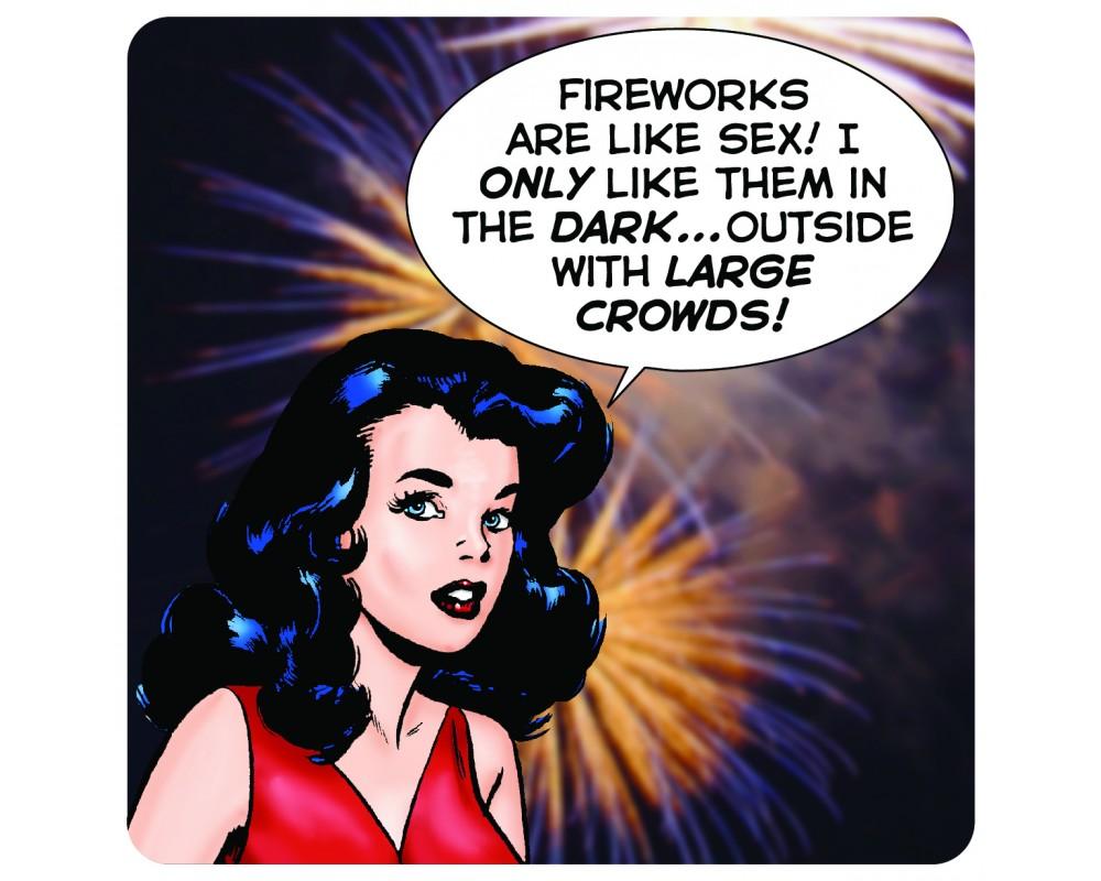 Lasinalusta Fireworks