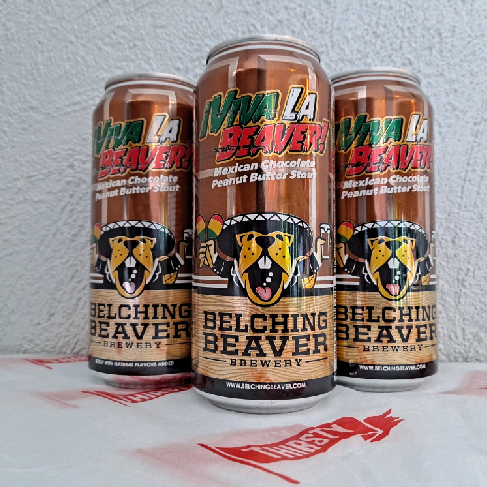 Belching Beaver | Viva La Beaver | Mexican Chocolate Peanut Butter Stout 7.5% 473ml