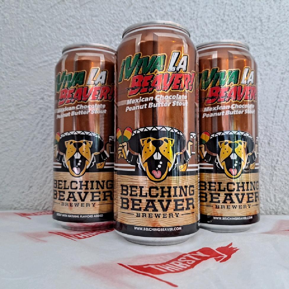 Belching Beaver | Viva La Beaver | Mexican Chocolate Peanut Butter Stout 7.5% 473ml
