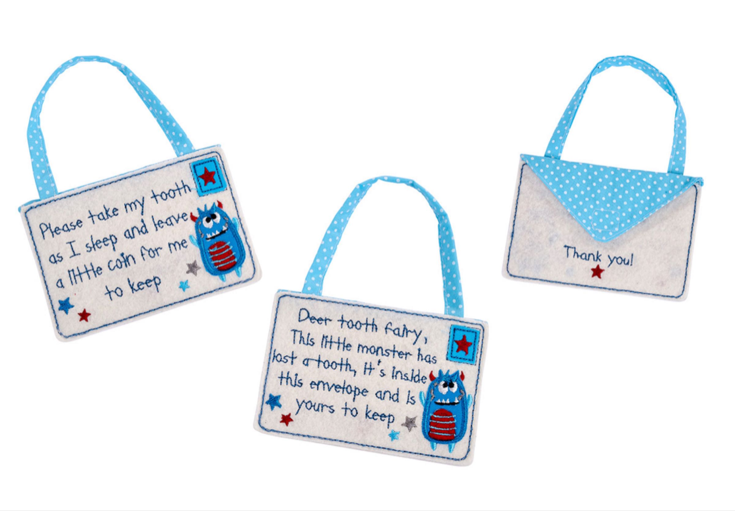 Blue tooth fairy envelope