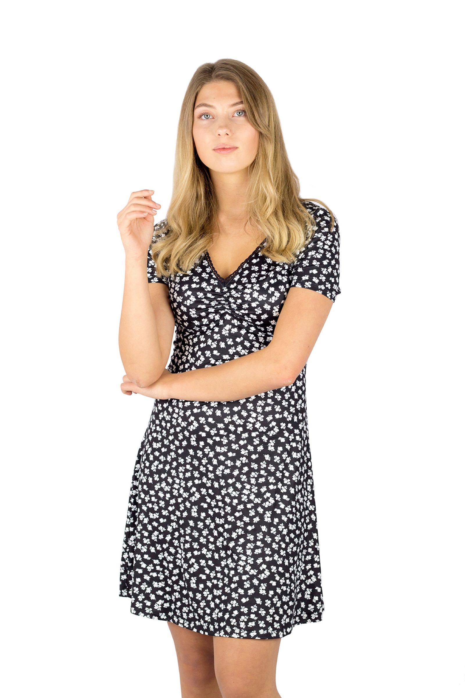 Juliette. Dress, black/white