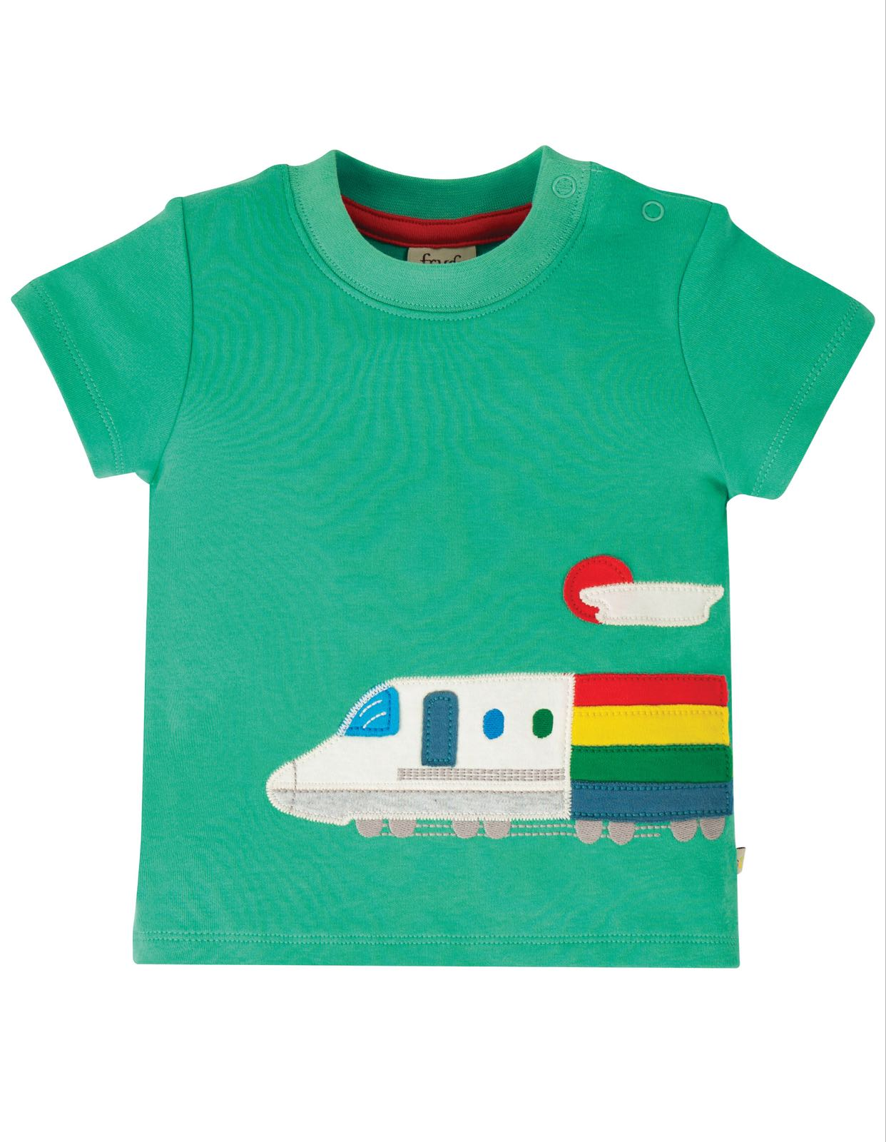 Frugi Cooper Top, Pacific Aqua/Train