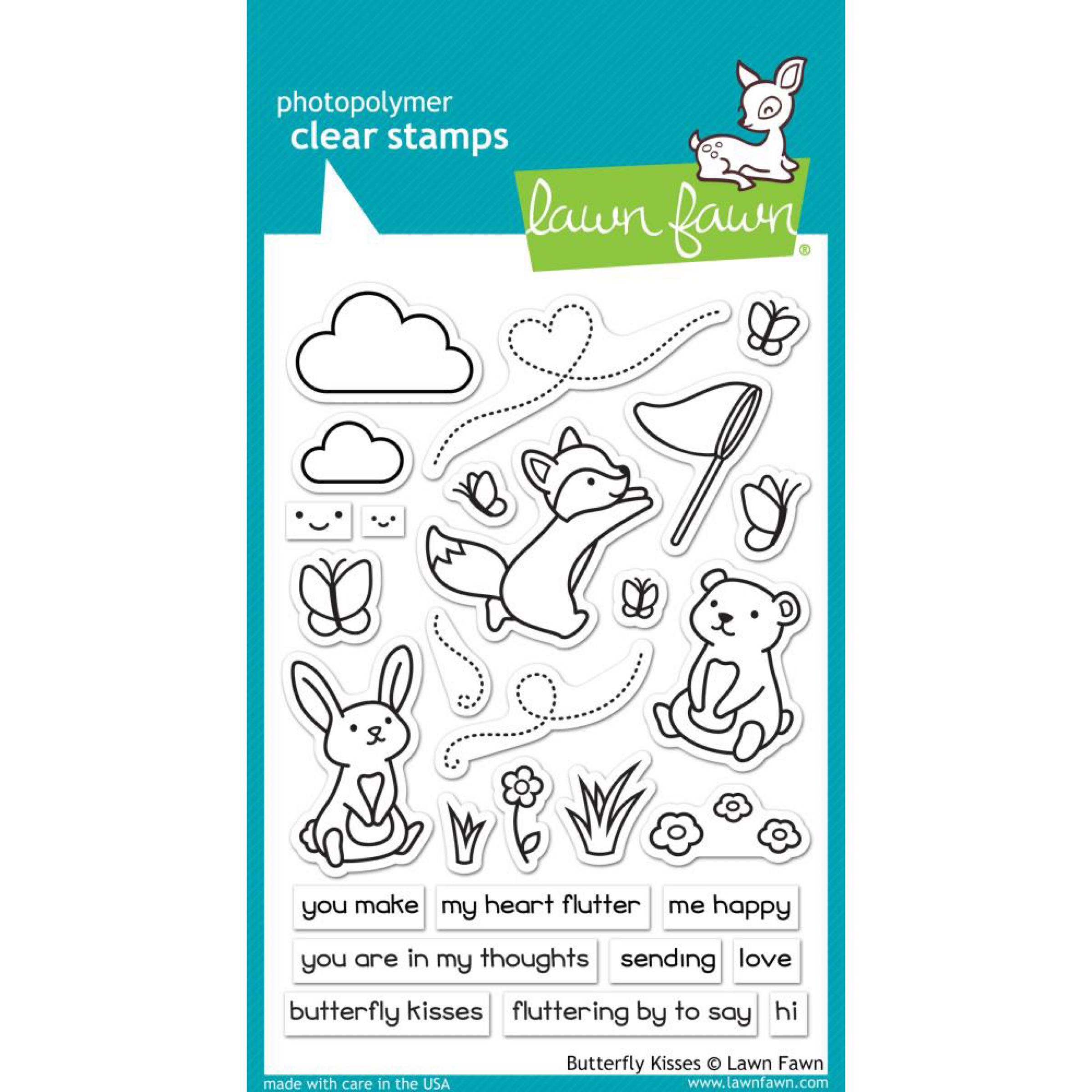 Lawn Fawn Clear Stamps / Klar Stempler - Butterfly Kisses
