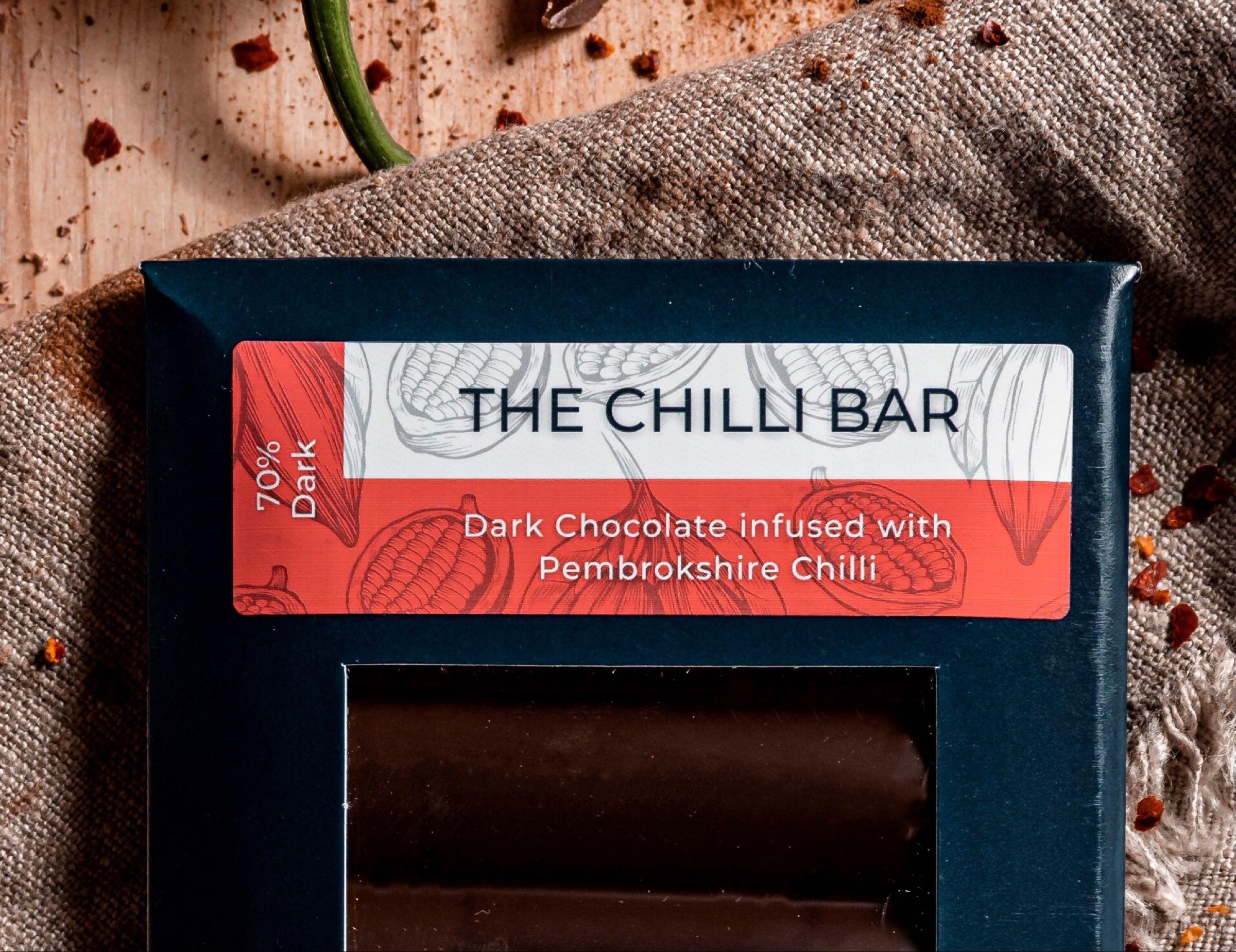70% Dark Chocolate and Pembrokeshire Chilli