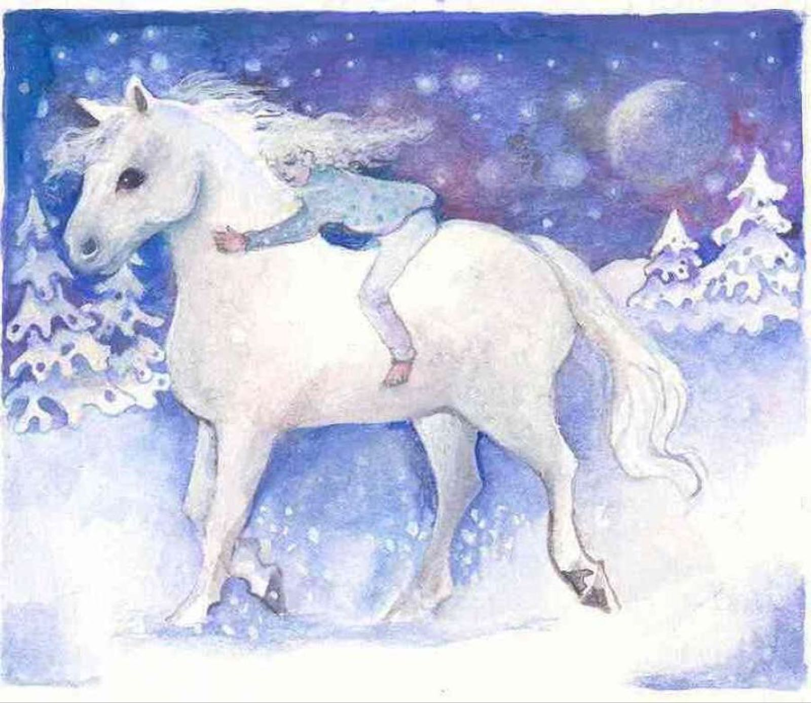 'Dreaming of a Pony for Christmas' Furzedown Gallery Mini Card
