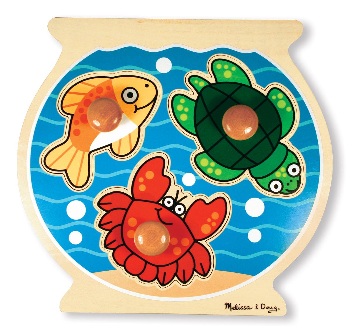 Fish Bowl Large Peg Puzzle