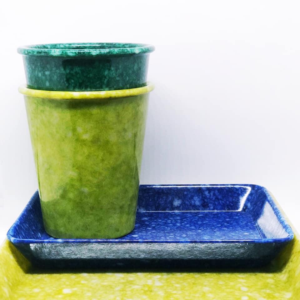 Melaminkopp grønn
