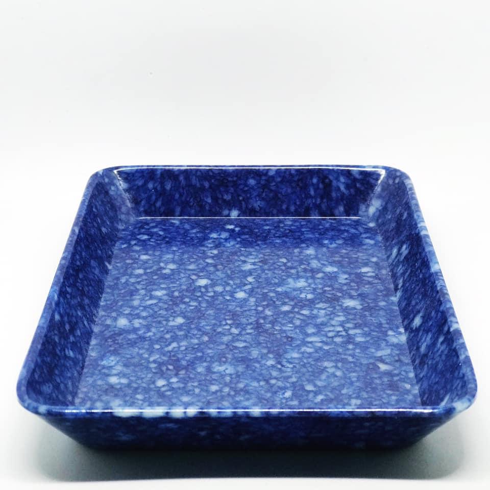 Melaminfat blått