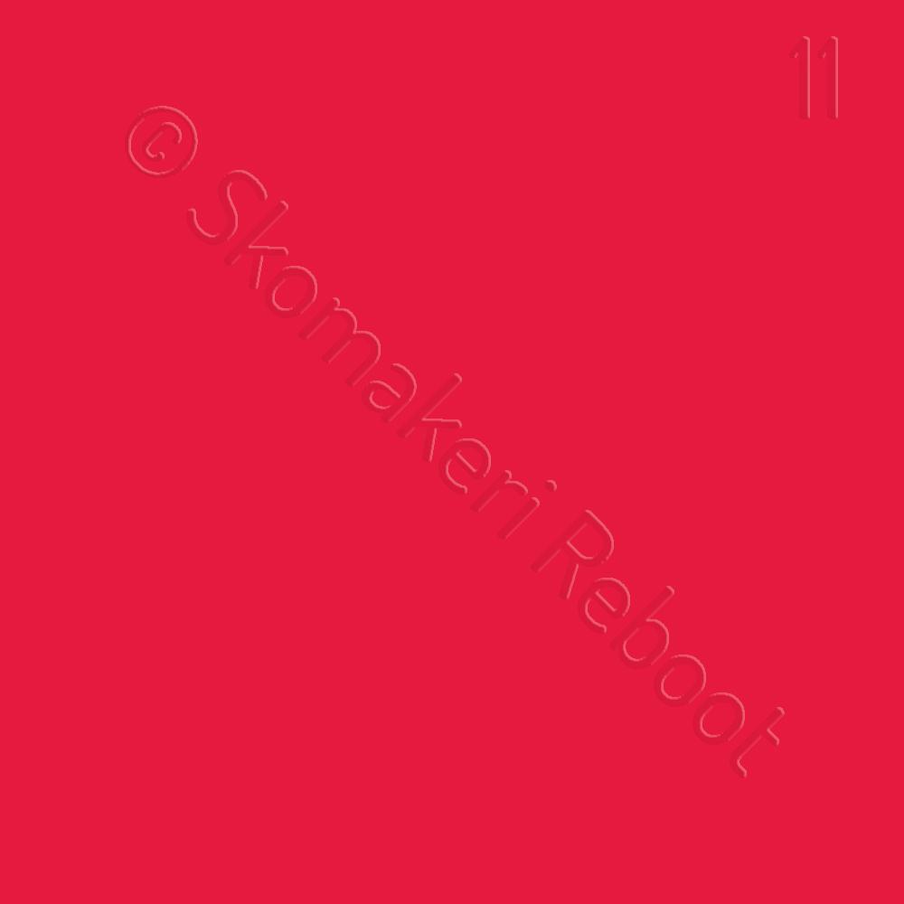 11 röd, Saphir Créme surfine