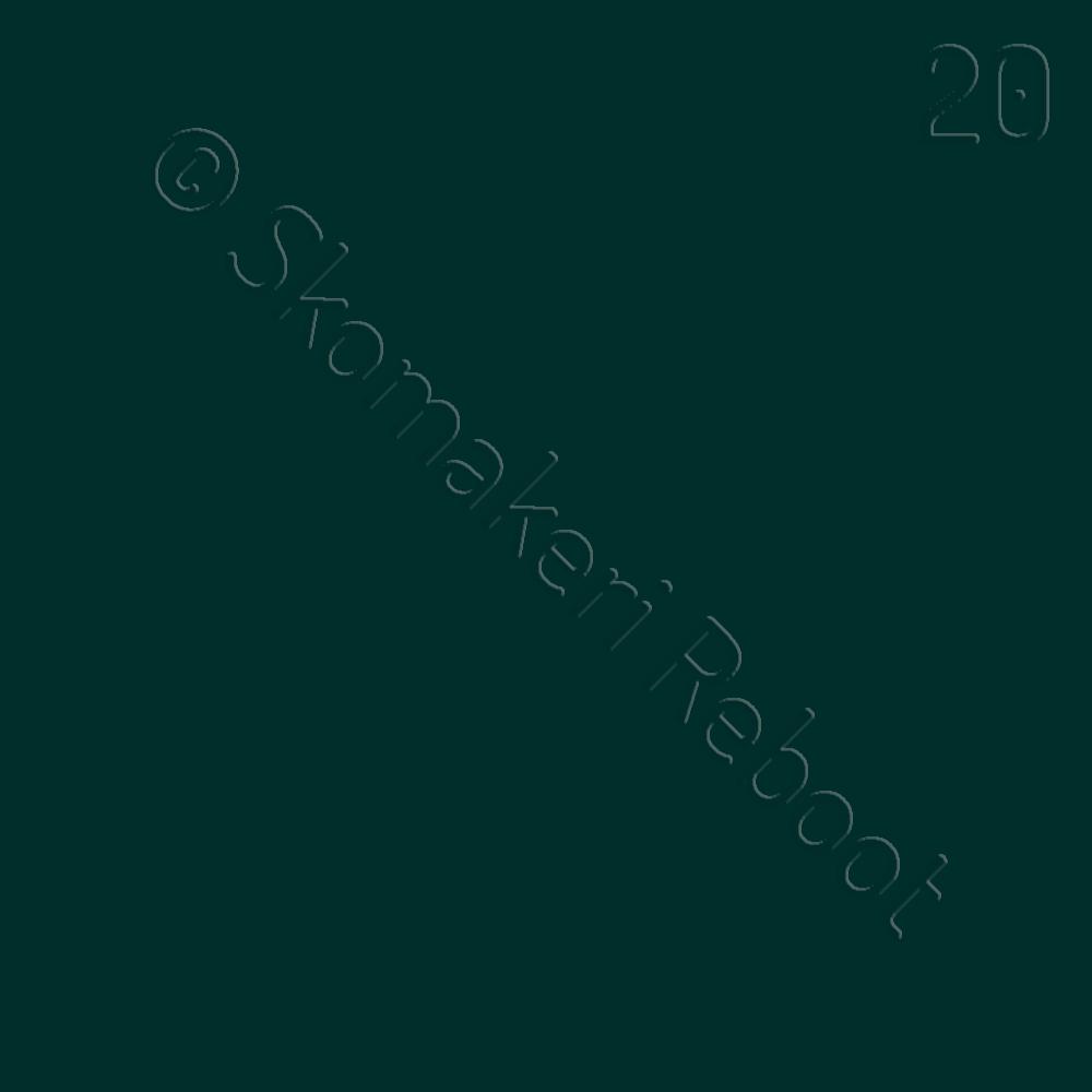20 mörkgrön, Saphir Créme surfine