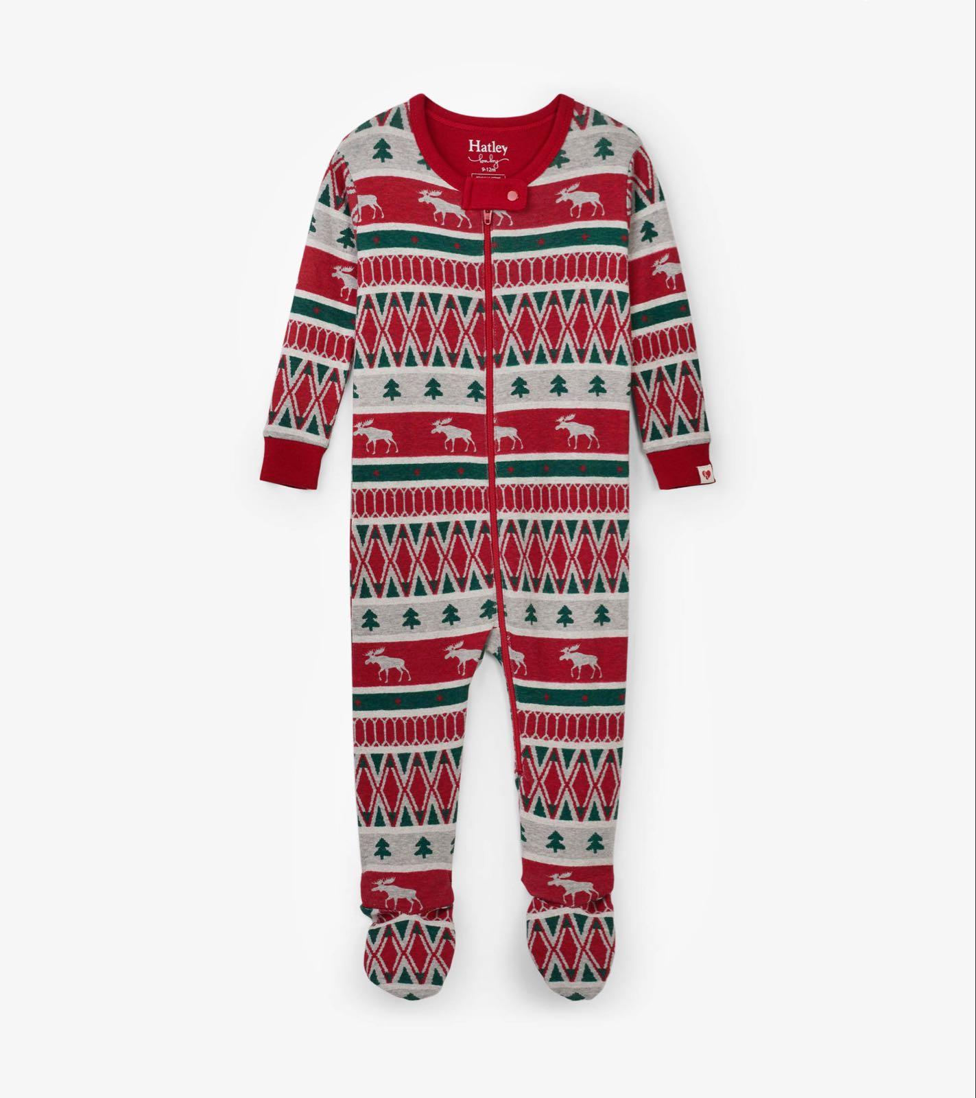 Hatley Winter Fair Isle Sleepsuit