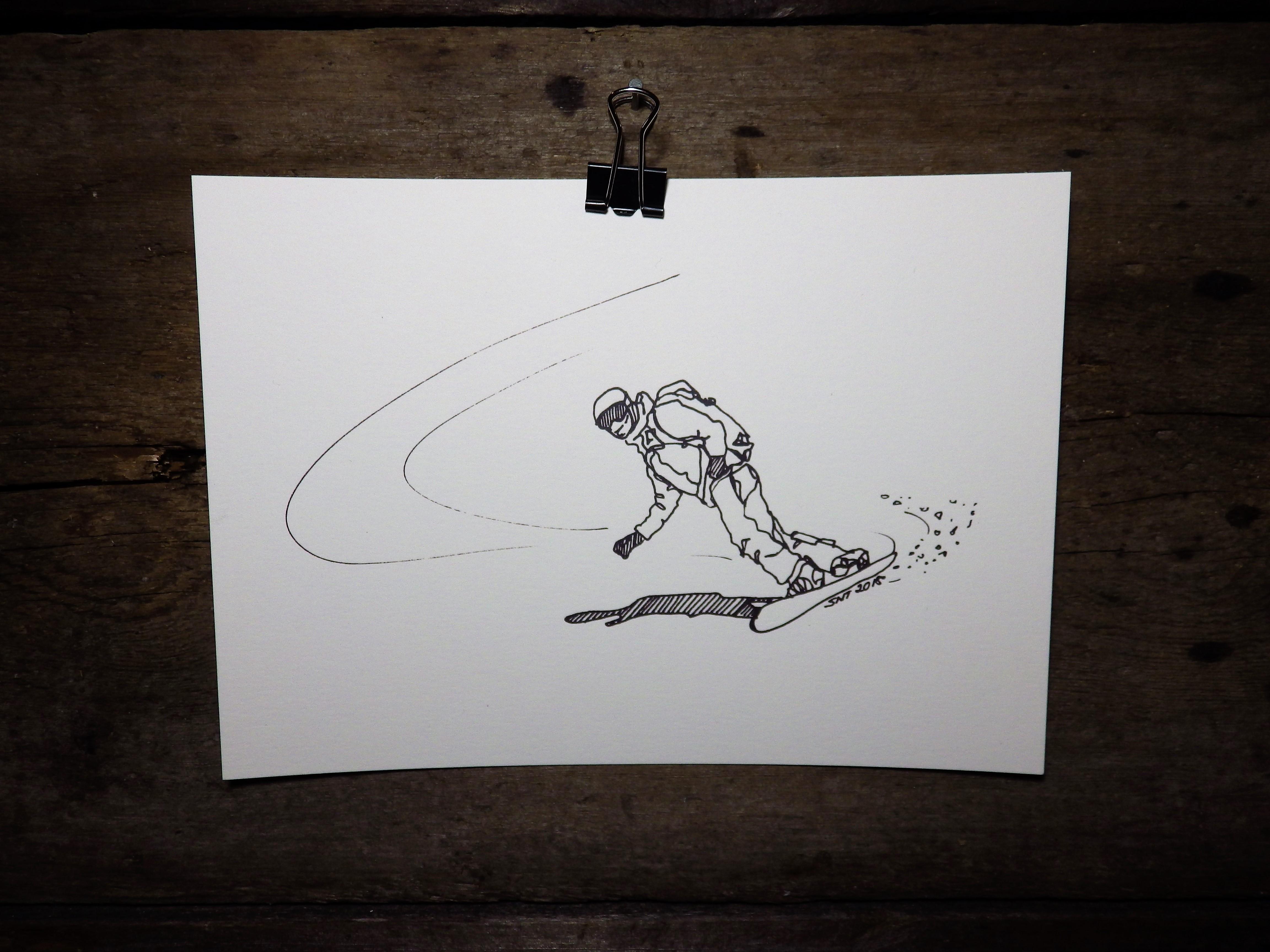 KONSTTRYCK - Snowboardåkare 2
