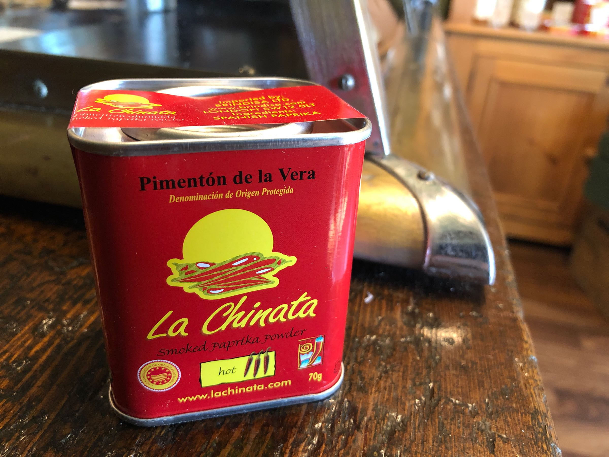 La Chinata hot paprika, tin 70g