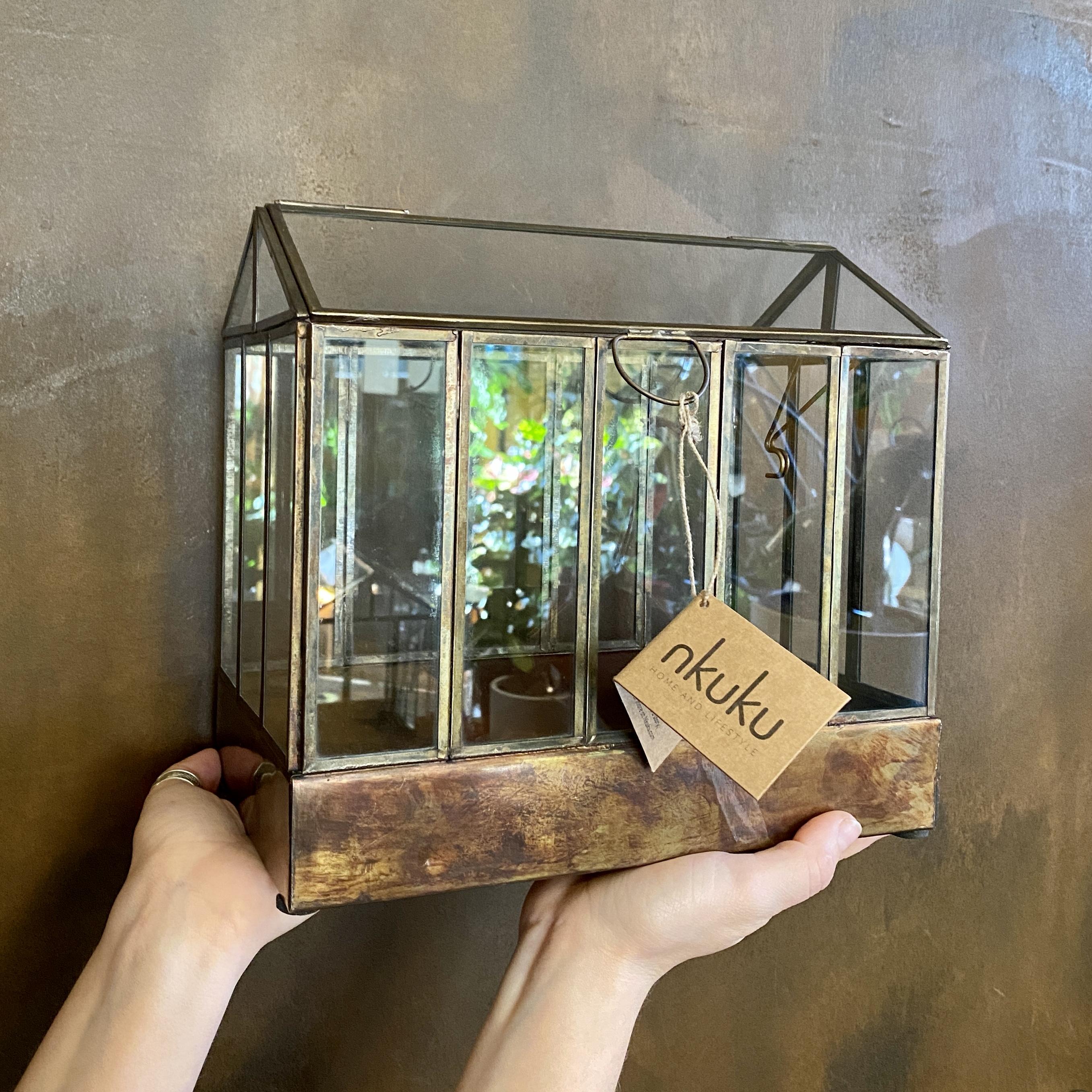 Aged Brass Terrarium - Small
