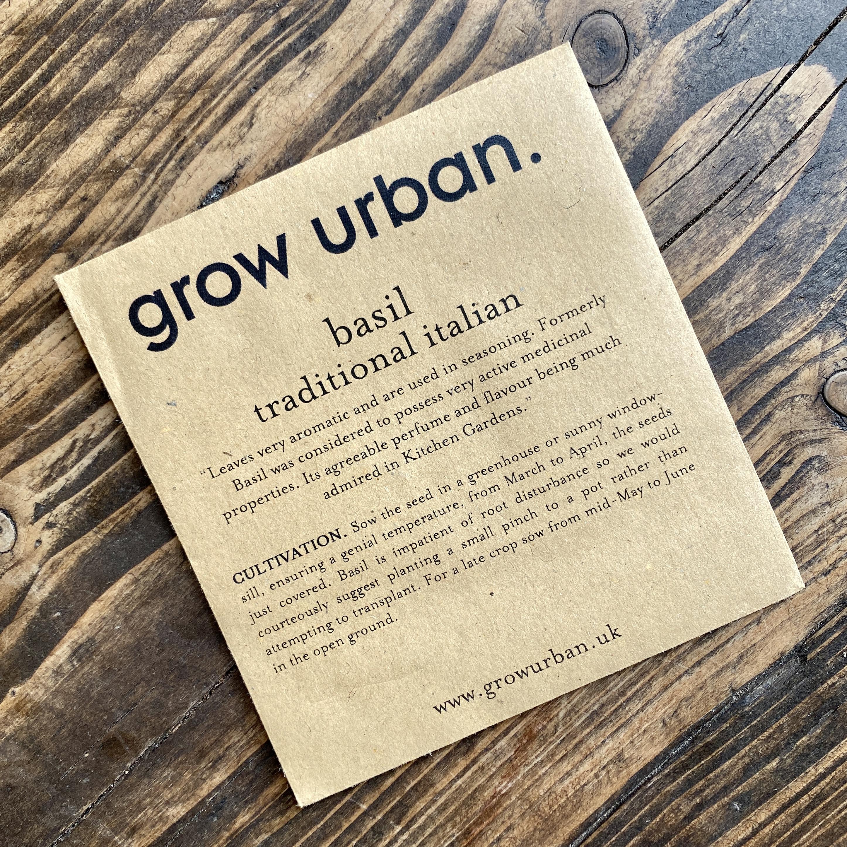 grow urban. Seeds - Herbs