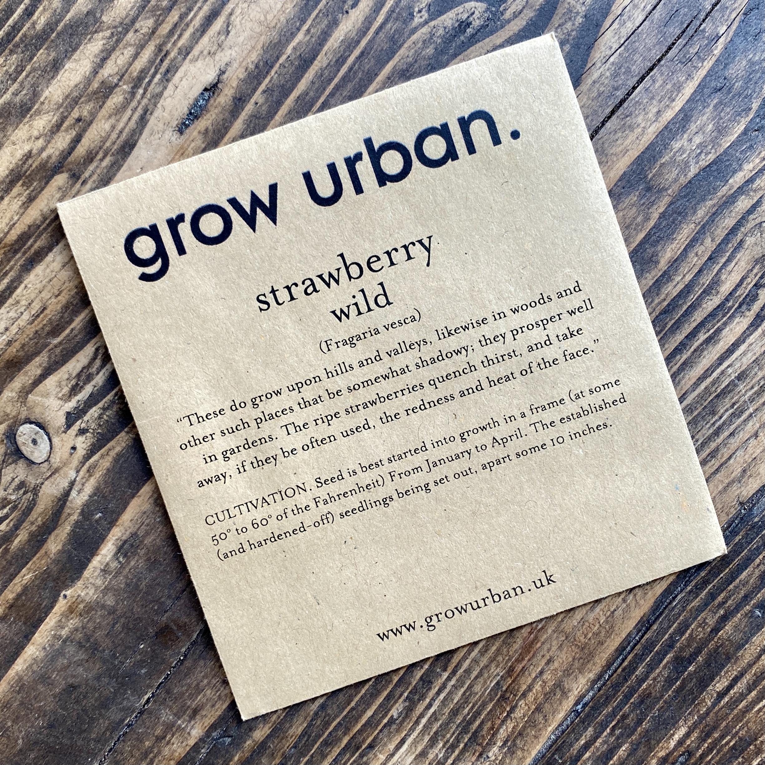 grow urban. Seeds - Fruit & Veg