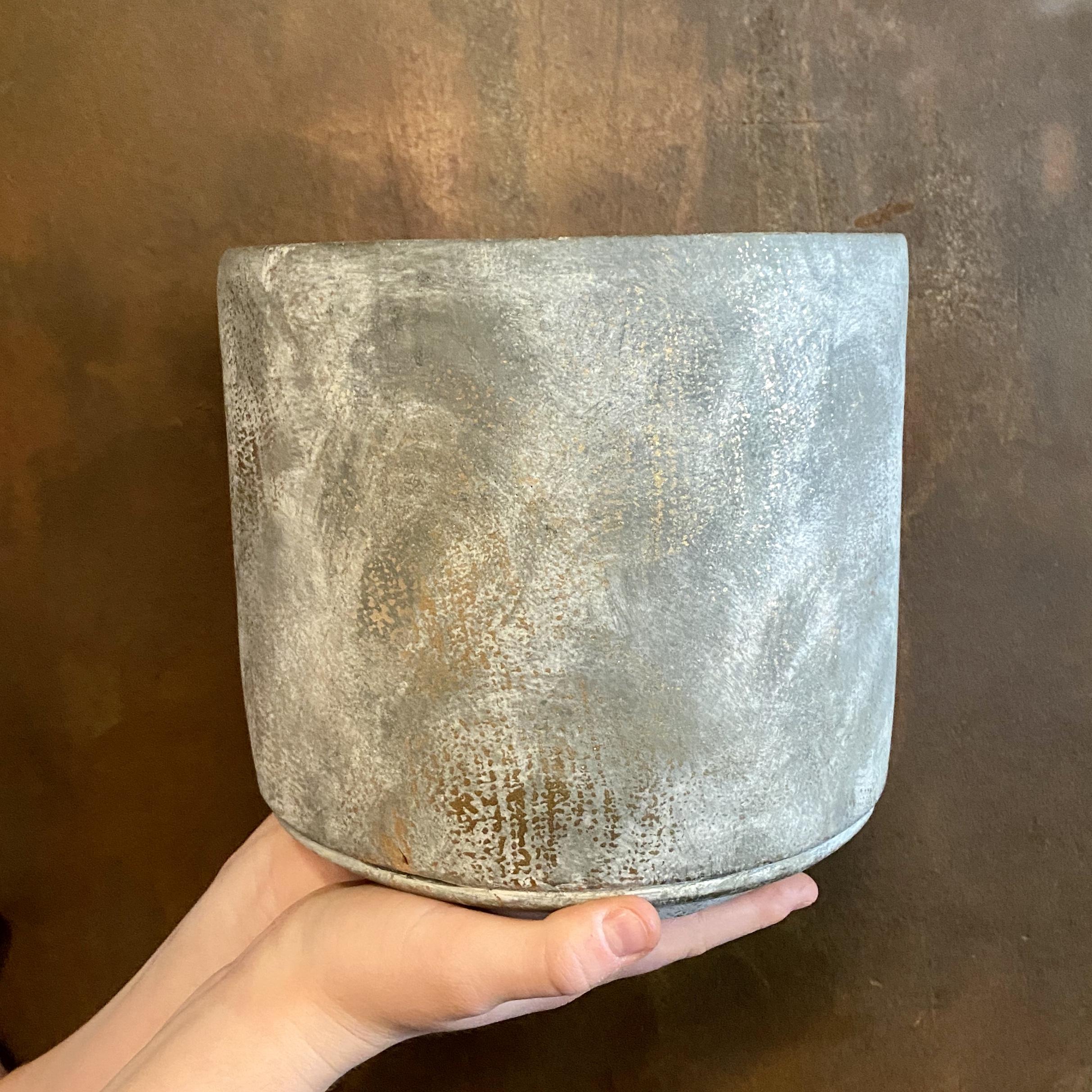 Dark Cement Pot