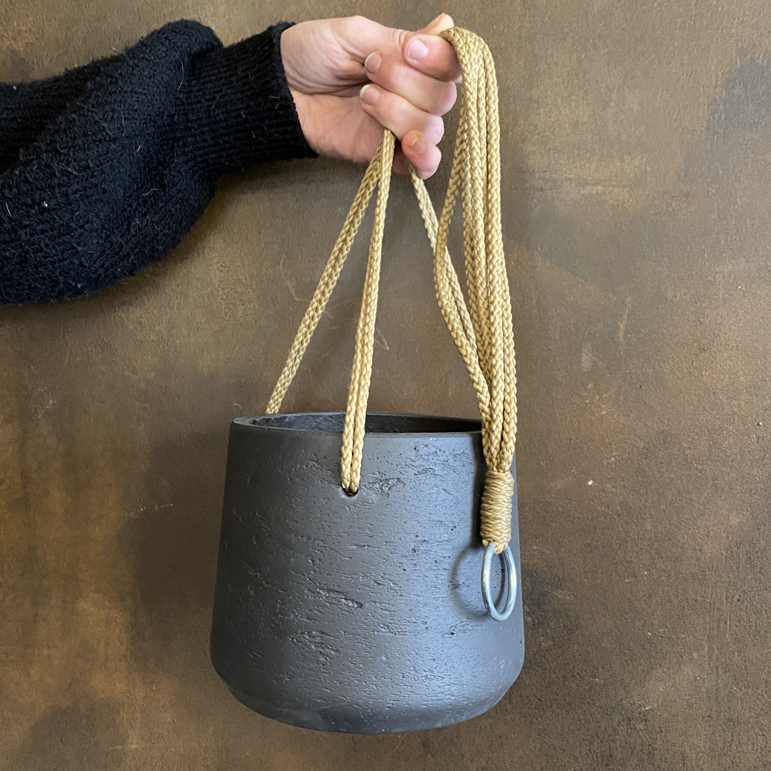 Tapered Pot (hanging) - Charcoal