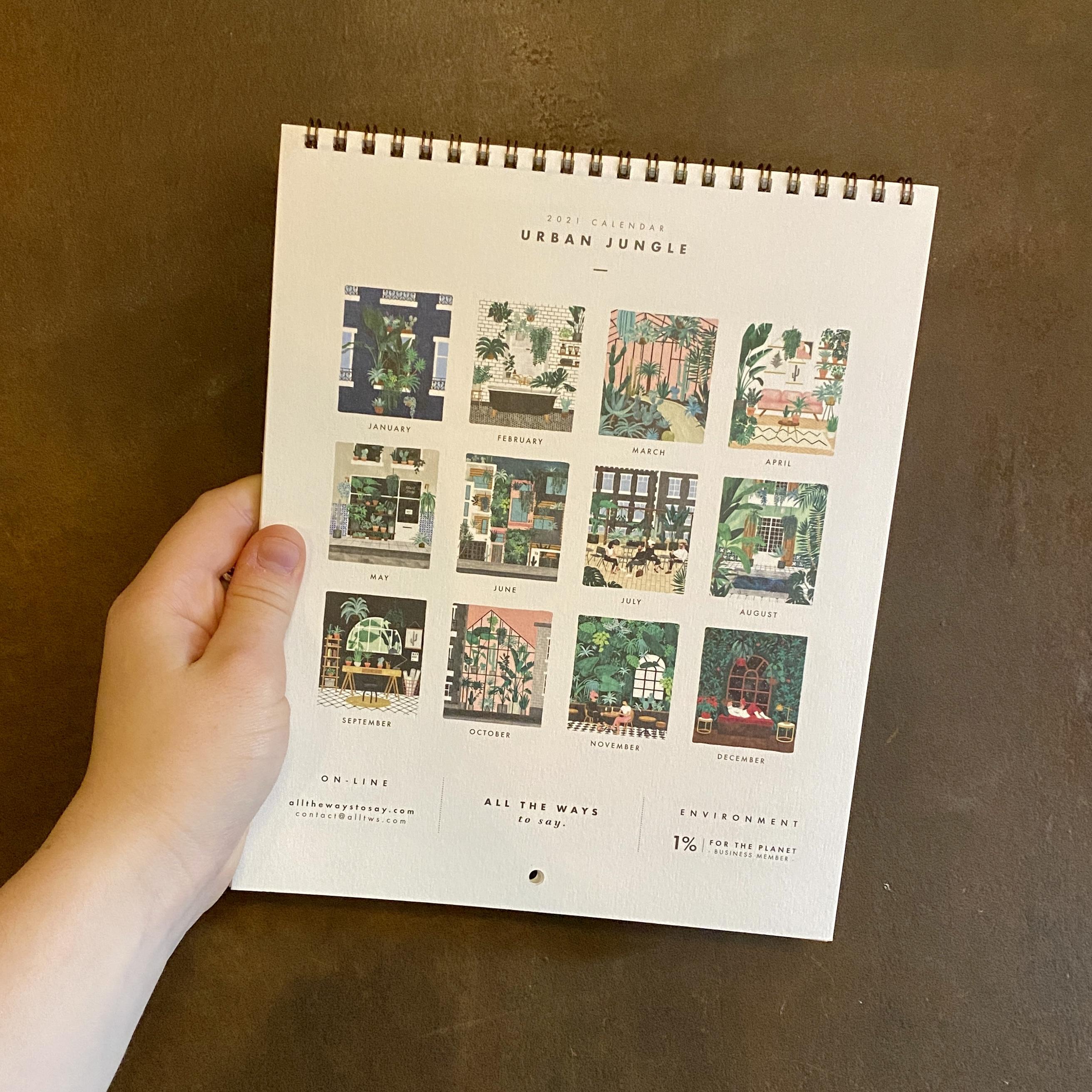 2021 Urban Jungle Calendar