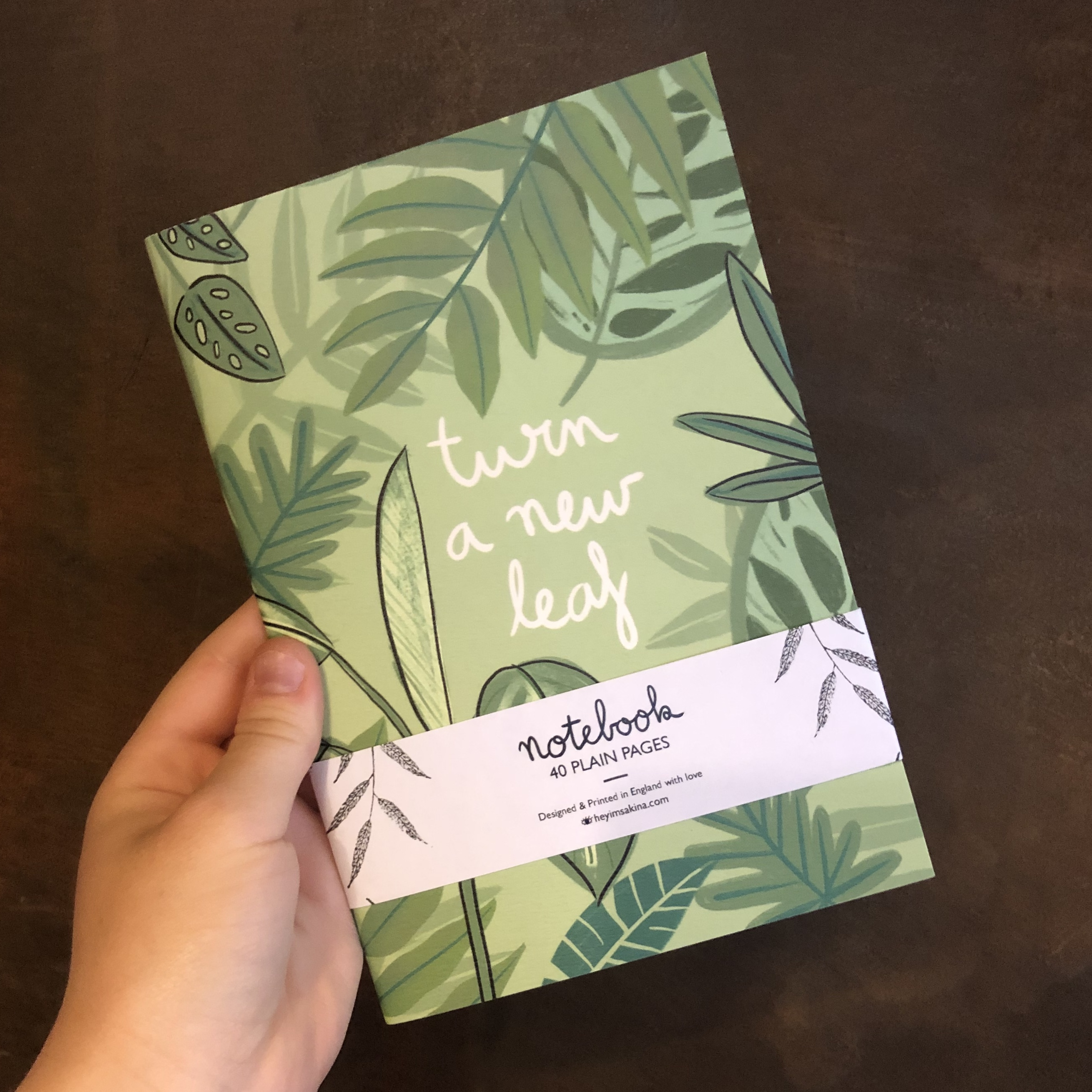New Leaf Notebook A5