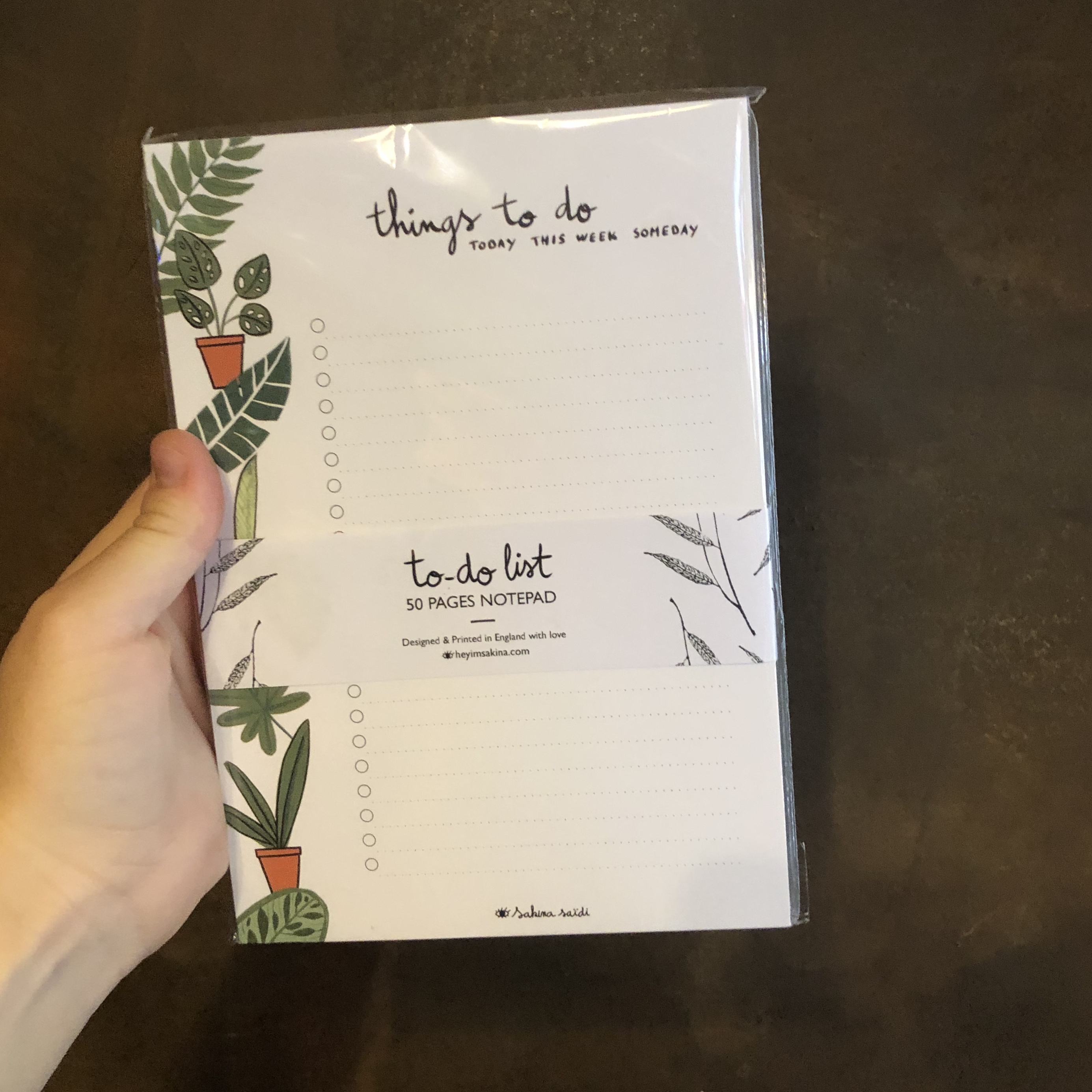 To Do List Plants A5