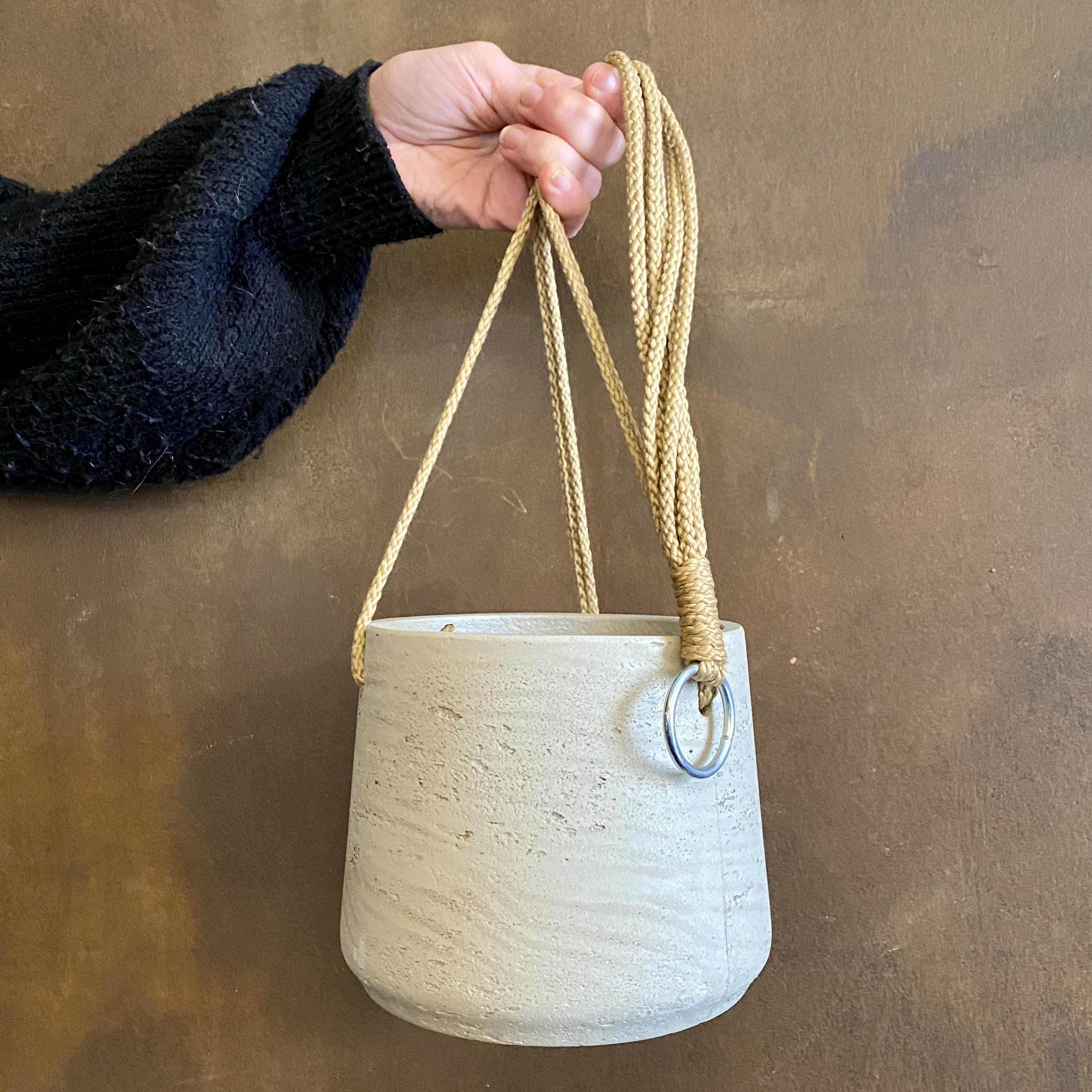 Tapered Pot (hanging) - Stone Washed