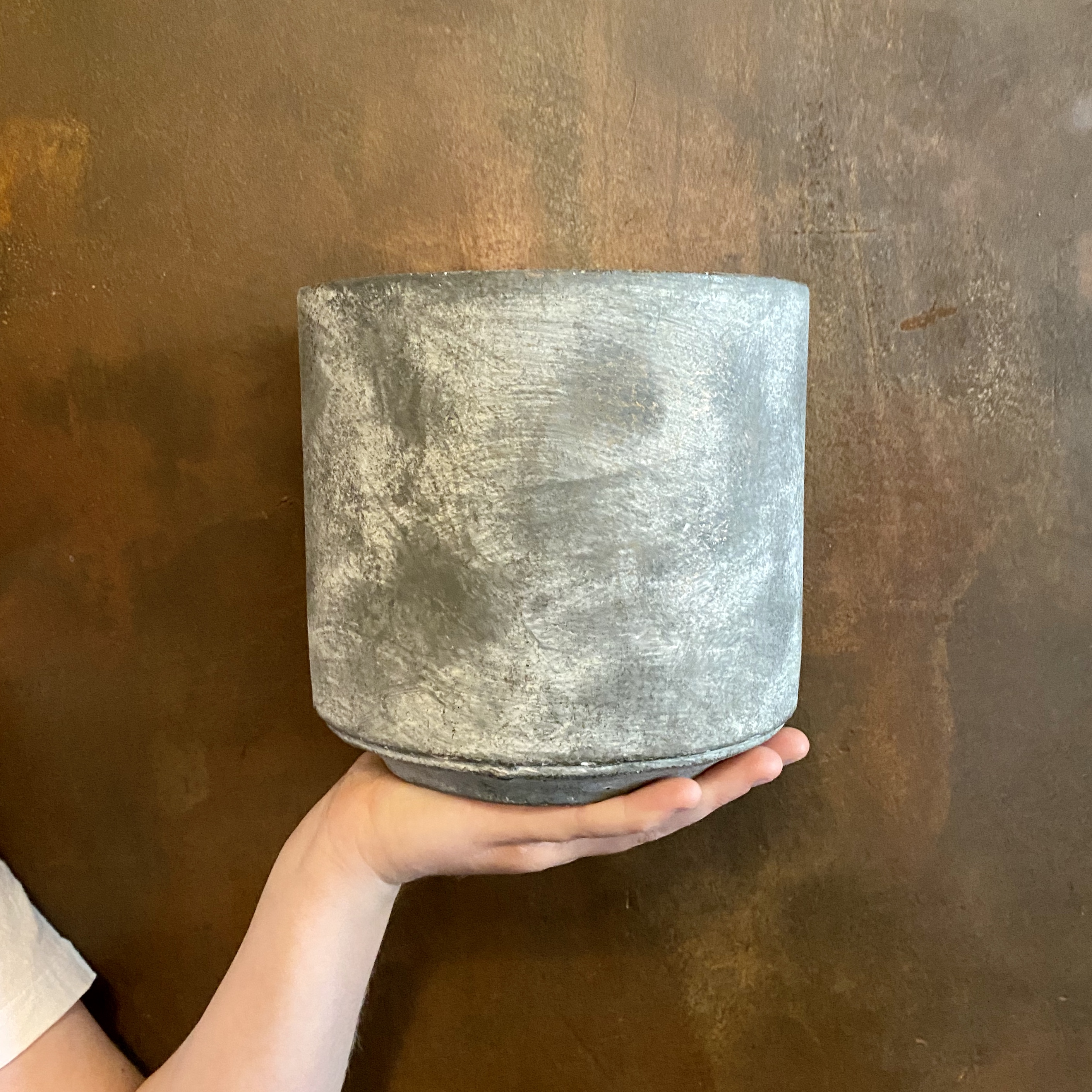 Cement Pot - Dark