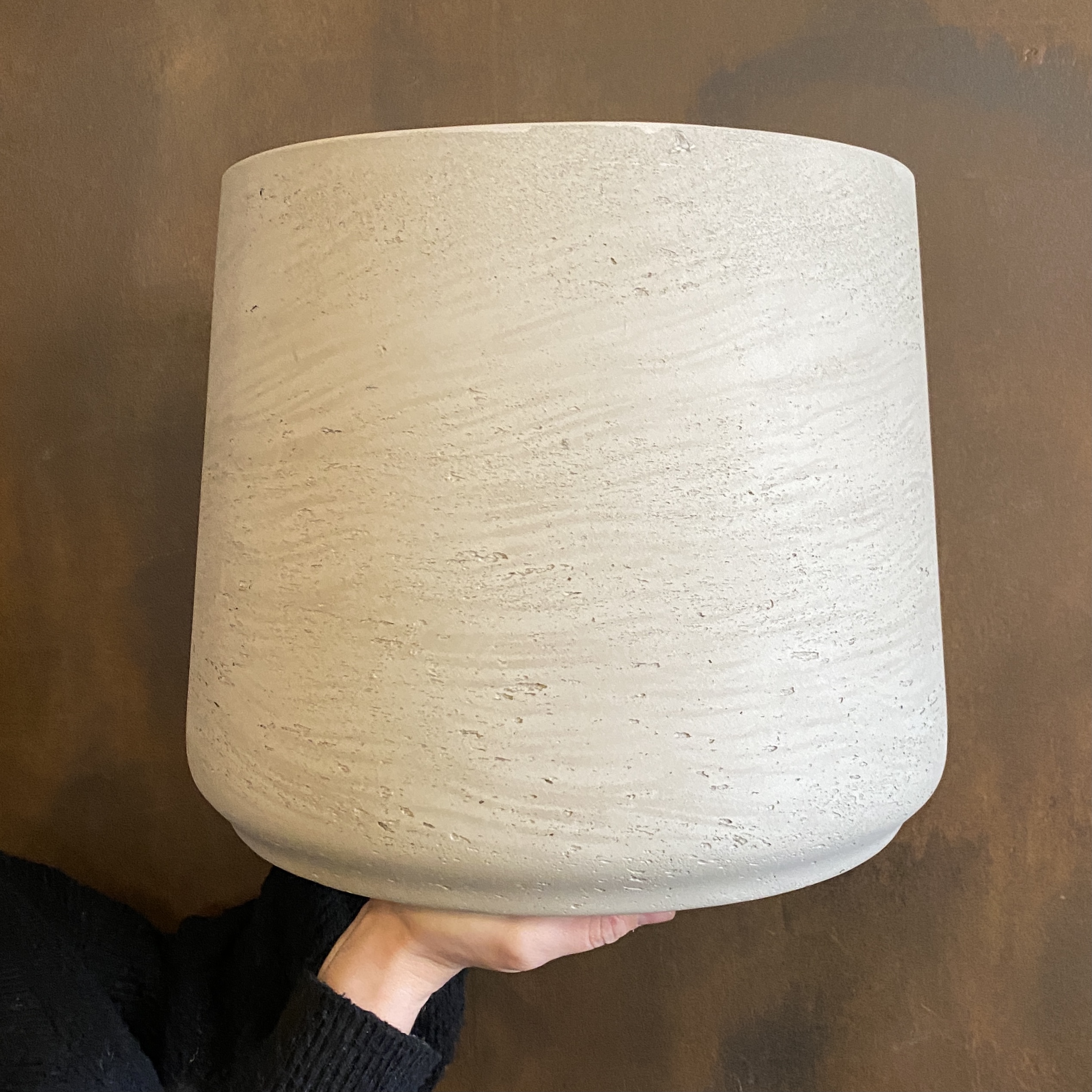 Tapered Fibreclay Pot - Stone Washed