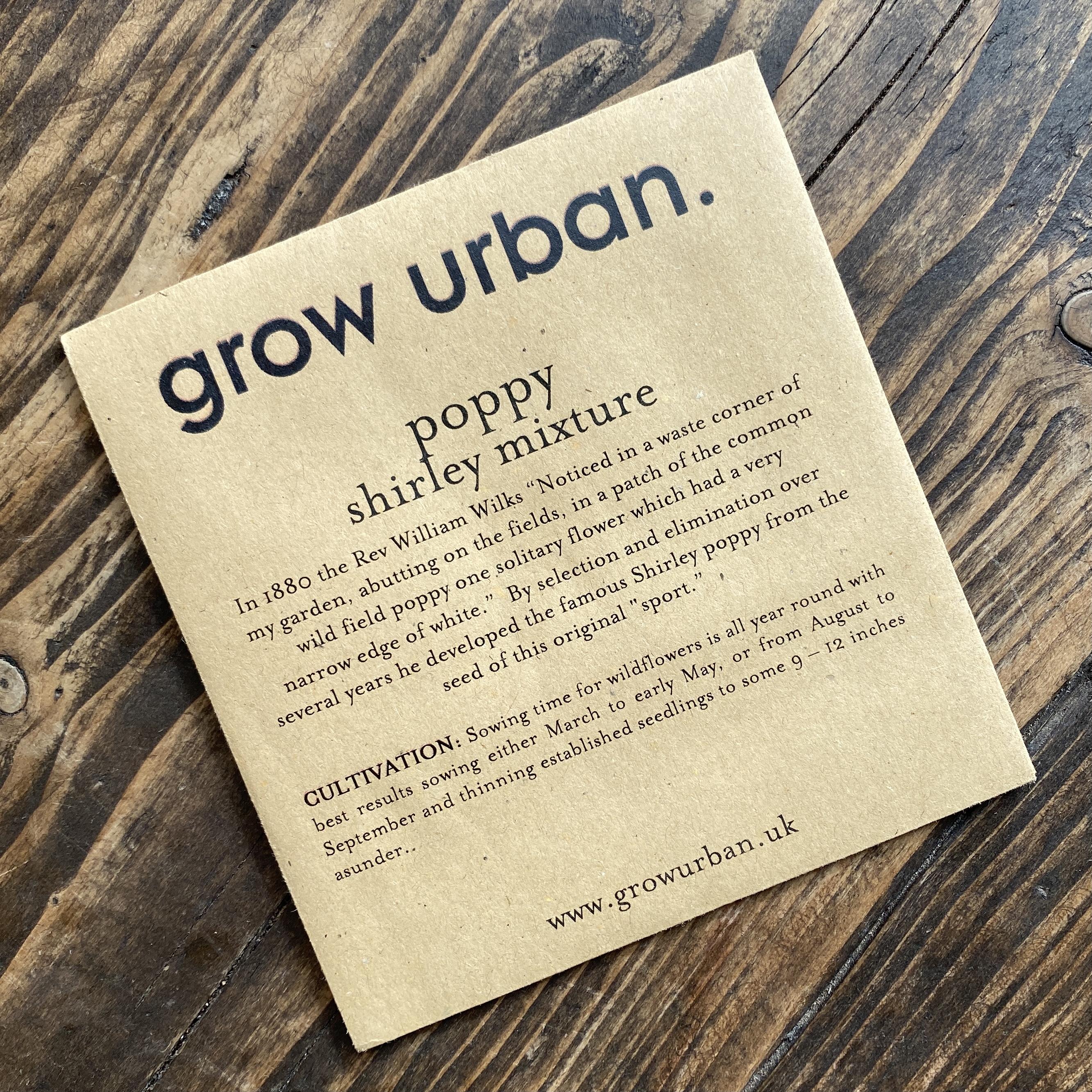 grow urban. Seeds - Flowers