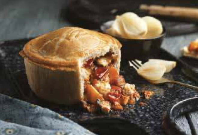 The Celtic Pie Co. - Roasted Veg & Goats Cheese Pie (2 x 265g)