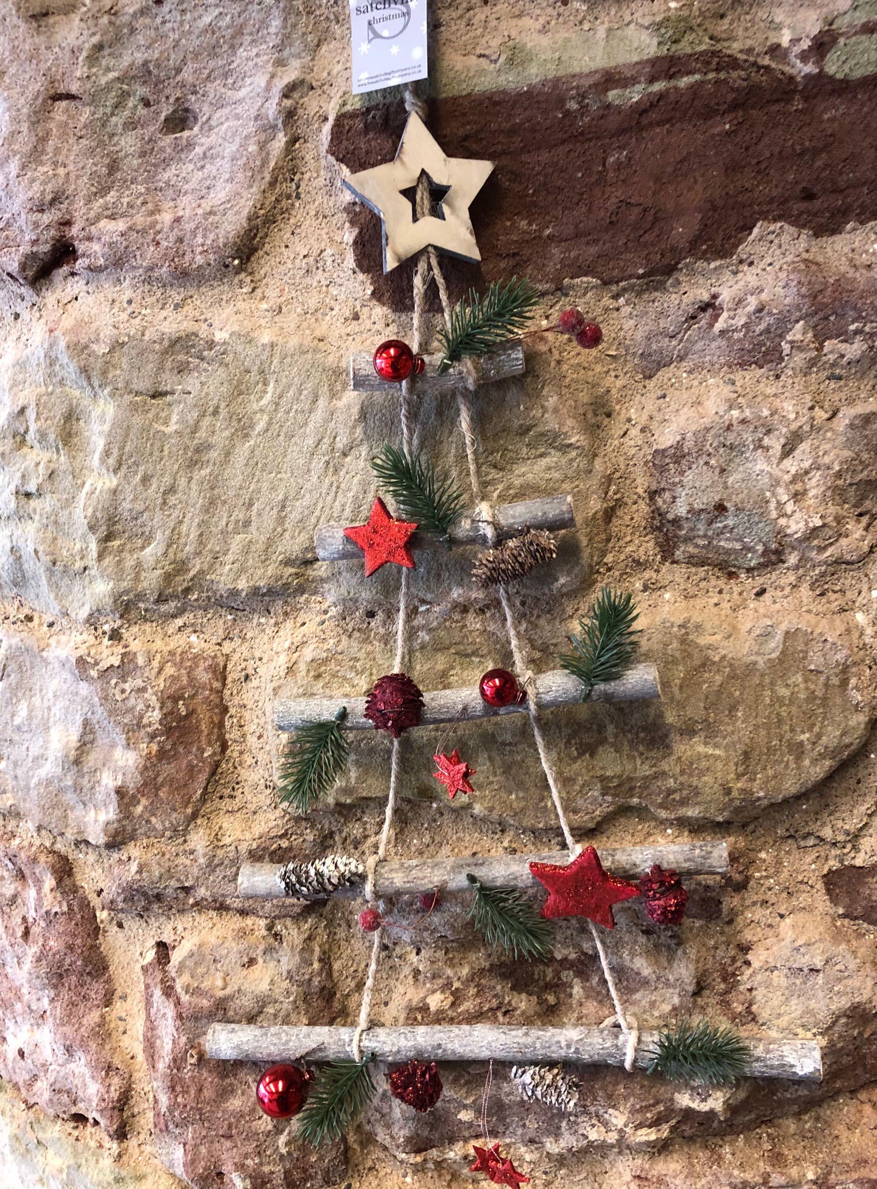 Hanging stick tree wall decoration