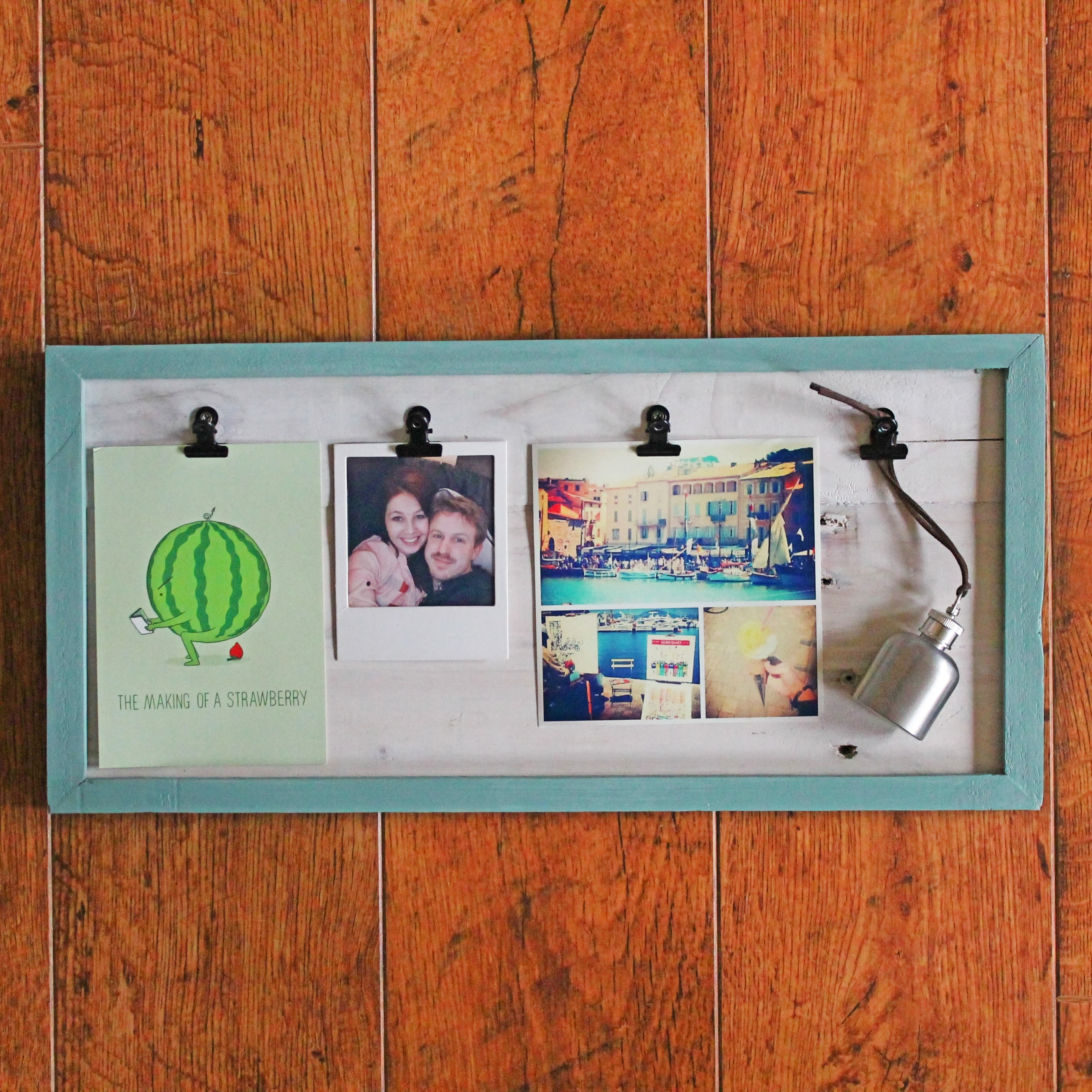 Wooden Frame with Board Clips
