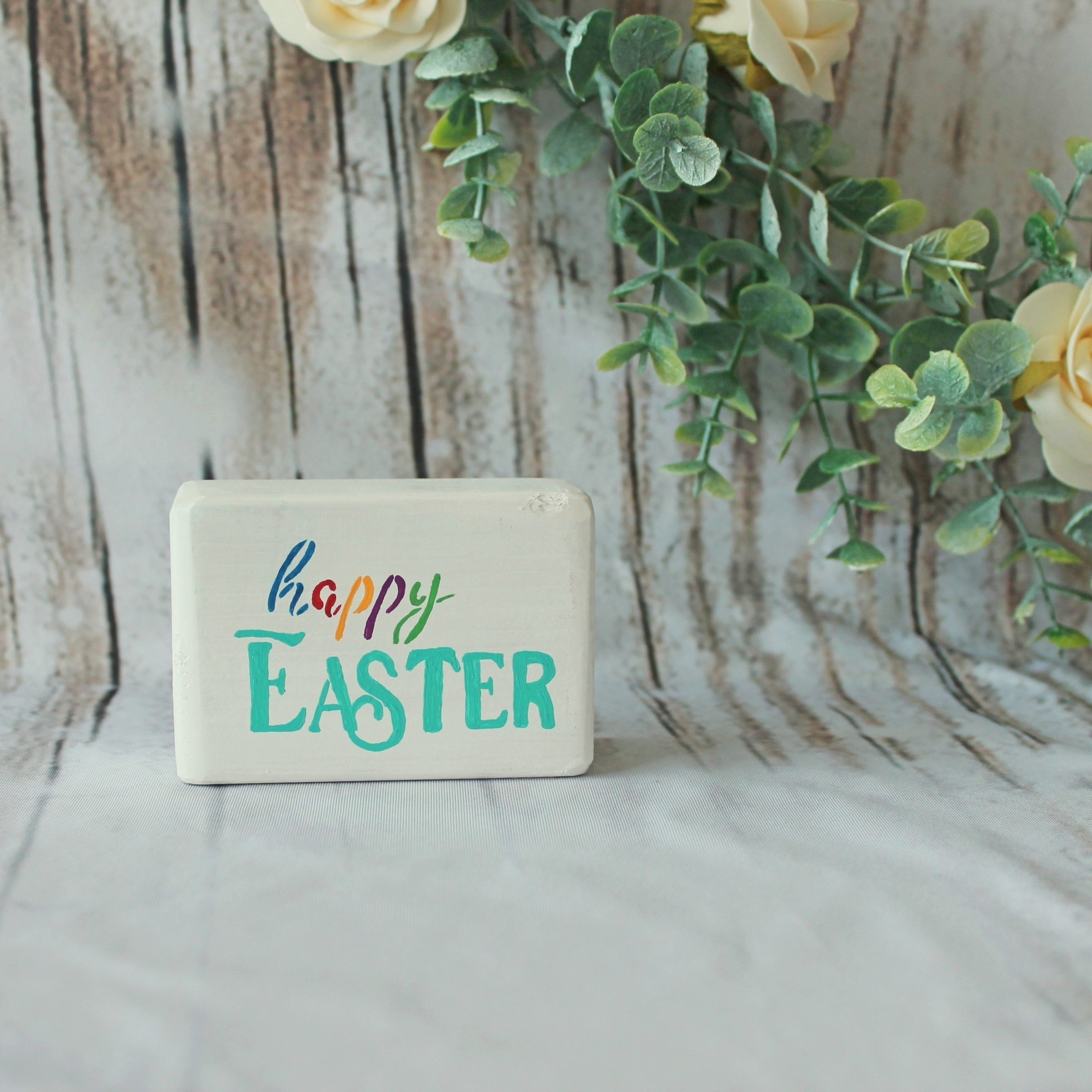 Happy Easter Small Block